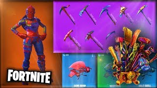 Fortnite - All Cosmetic Items *NEW* 2 Seasons ft: Costumes,Skins,Gliders,Pickaxes