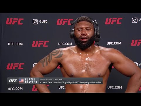 UFC Вегас 3: Кертис Блэйдс - Слова после боя