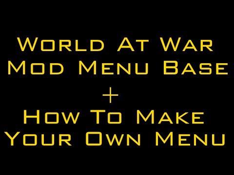 how to use waw mod menu