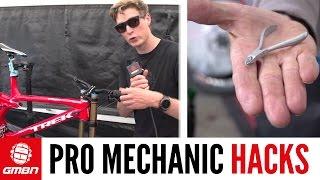 World Cup Mountain Bike Mechanics' Maintenance Hacks