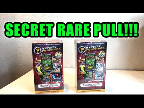 SECRET RARE CARD PULL! - OPENING 2 POKEMON MYSTERY POWER BOXES! - POKEMON TCG