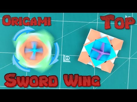 How to Make a Paper Spinner Battle Blade Tutorial | Origami Top Sword Wing l DIY Paper Toy Idea
