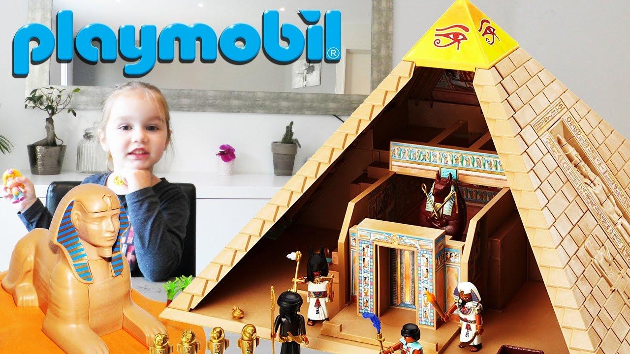 playmobil pyramide sphinx et pharaon d egypte set 4240 unboxing