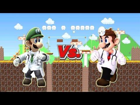 SSBB WiiU Modded Battles: Dr. Mario Vs Dr. Luigi {Redone & Remastered in HD}