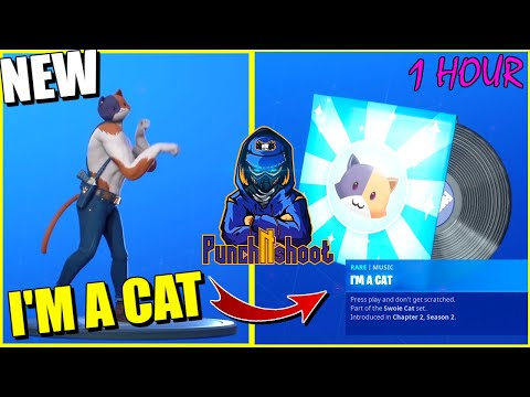 FORTNITE I'M A CAT (KITTY CAT SONG) 1 HOUR