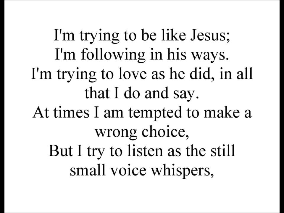I'm Trying to Be Like Jesus (LDS Children's Songs) - YouTube