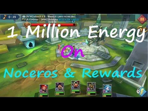 Lords Mobile 1 Million Energy Use On Noceros & Rewards
