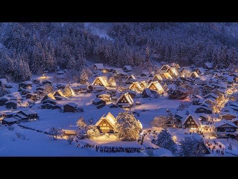 [4K] 2018 白川郷ライトアップ2 World Heritage Shirakawago light up
