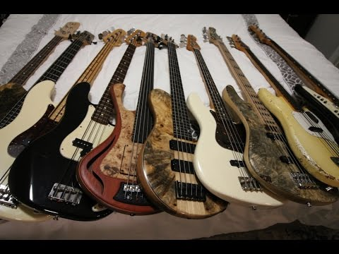 My entire bass collection - Vlog #55 Jan 23rd 2017