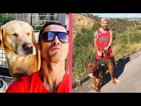 10 Footballer's Dogs   Ft. Ronaldo, Messi, Neymar