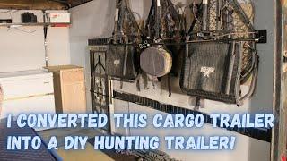 Convert a cargo trailer to a DIY Hunting Trailer