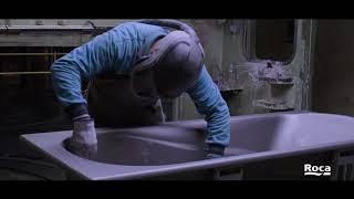 видео Чугунная ванна Roca (Рока) Malibu (Малибу) 160 х 75, с ручками, производство Испания 231070001