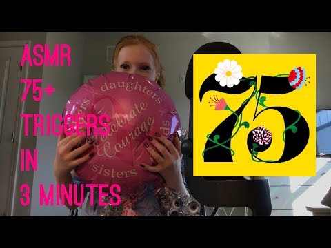 ASMR ~ 75+ TRIGGERS IN THREE MINUTES!!!!!