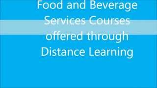 Food and Beverage Services courses through distance education in India