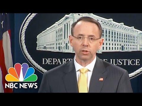 Attorney General Rod Rosenstein: 13 Russians Charged For Interfering In US Election | NBC News
