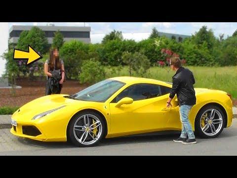 FERRARI GOLD DIGGER PRANK - Rich Kid (Ferrari 488 GTB)