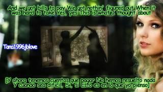 Repeat youtube video Taylor Swift - Mine [Lyrics - Traducida Al Español][Music Video] HD