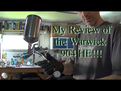 This Is My Review Of The Warwick 904HE HVLP Spray Gun!  A Very Good Gun If You Are On A Budget!
