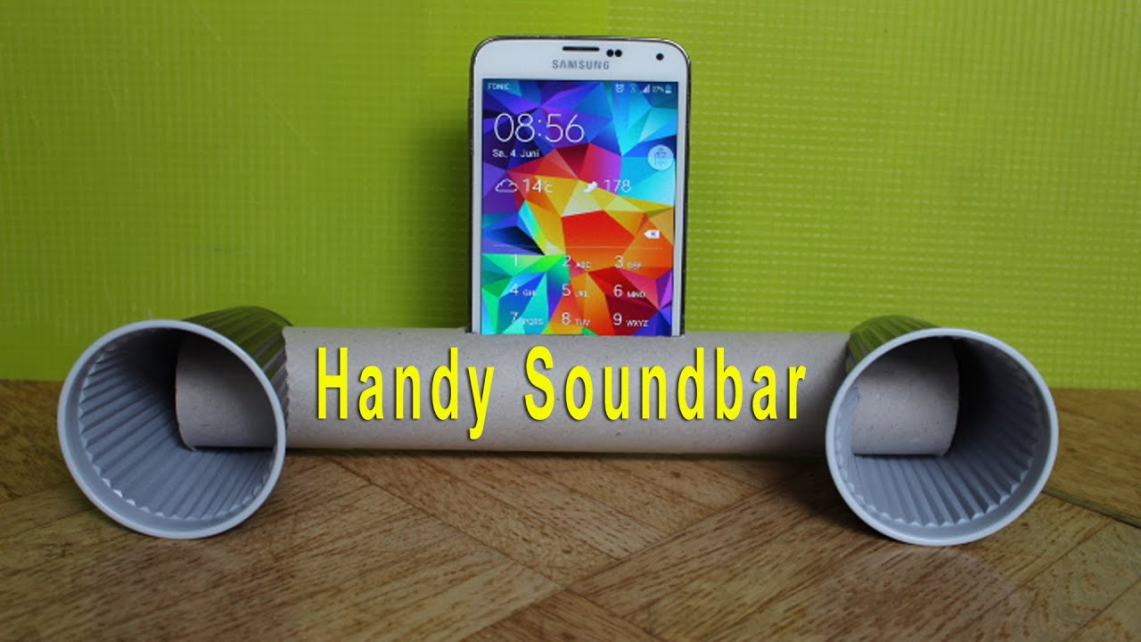 trick handy soundbar selber bauen youtube. Black Bedroom Furniture Sets. Home Design Ideas