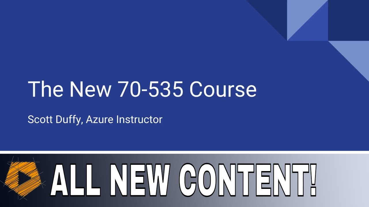 70-535 Course Update Announcement