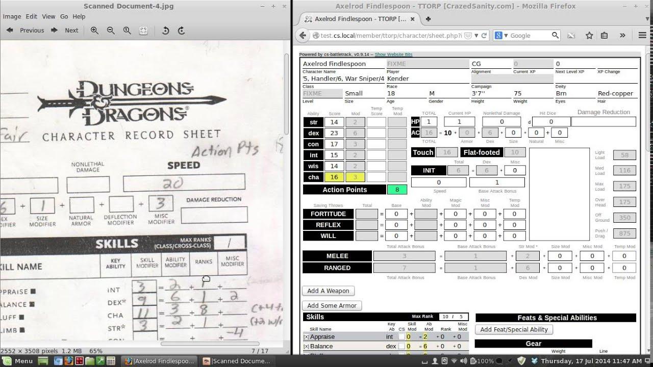 photograph regarding 3.5e Character Sheet Printable known as 3.5E Temperament SHEET PDF