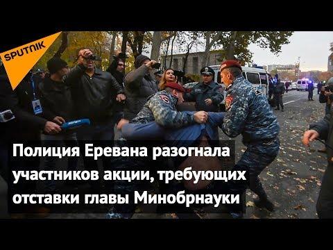 Полиция Еревана разогнала участников акции, требующих отставки главы Минобрнауки