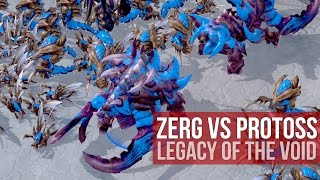 StarCraft 2: Legacy of the Void - Zerg versus Protoss Live Gameplay! (4K)
