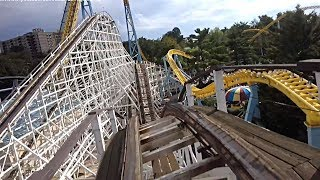 The Comet wooden coaster (Front seat HD POV) - Hersheypark