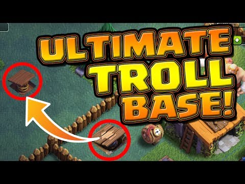 ULTIMATE TROLL BASE! - PLUS A HUGE GLITCH! - Clash Of Clans Night Mode!