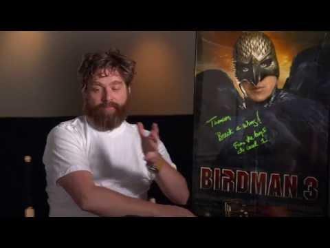 """Birdman: Zach Galifianakis """"Jake"""" Behind the Scenes Movie Interview"""