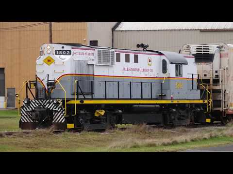 Falls Road Railroad ALCO RS-11 #1802. switches  Brockport NY.