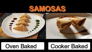 Baked Samosa/Oven Samosa/Cooker Samosa/Healthy Samosa/tea time snacks/Indian appetizer