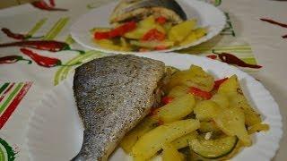 """Ну, оОчень вкусная - Запеченая Рыба """"Дорада"""" с овощами!"""