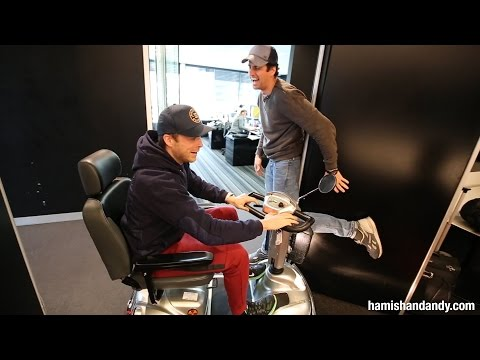 Andy Gives Hamish A Mobility Scooter