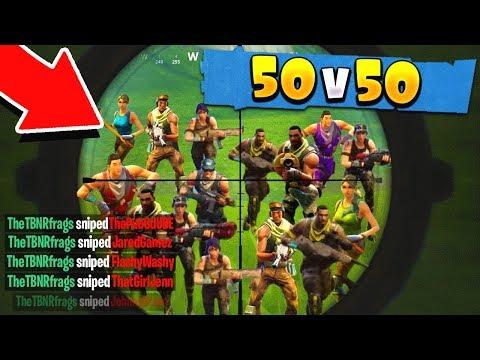 THE MOST EPIC 50v50 FORTNITE BATTLE ROYALE GAME EVER!
