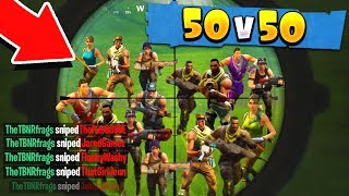THE MOST EPIC 50v50 FORTNITE BATTLE ROYALE GAME EVER!