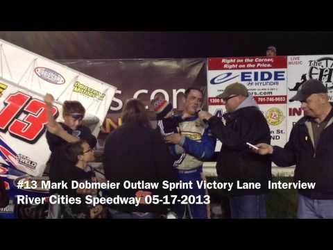 #13 Mark Dobmeier Outlaw Sprint Interview Holding His Son