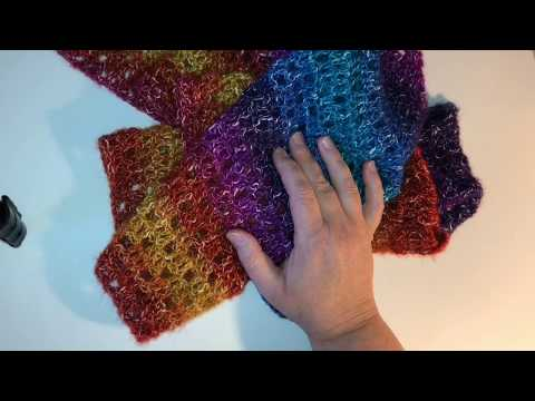 Crochet Triangle Shawl Asymmetrical Part 1 of 2