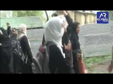 College students clash with police in Srinagar over Kathua rape-murder