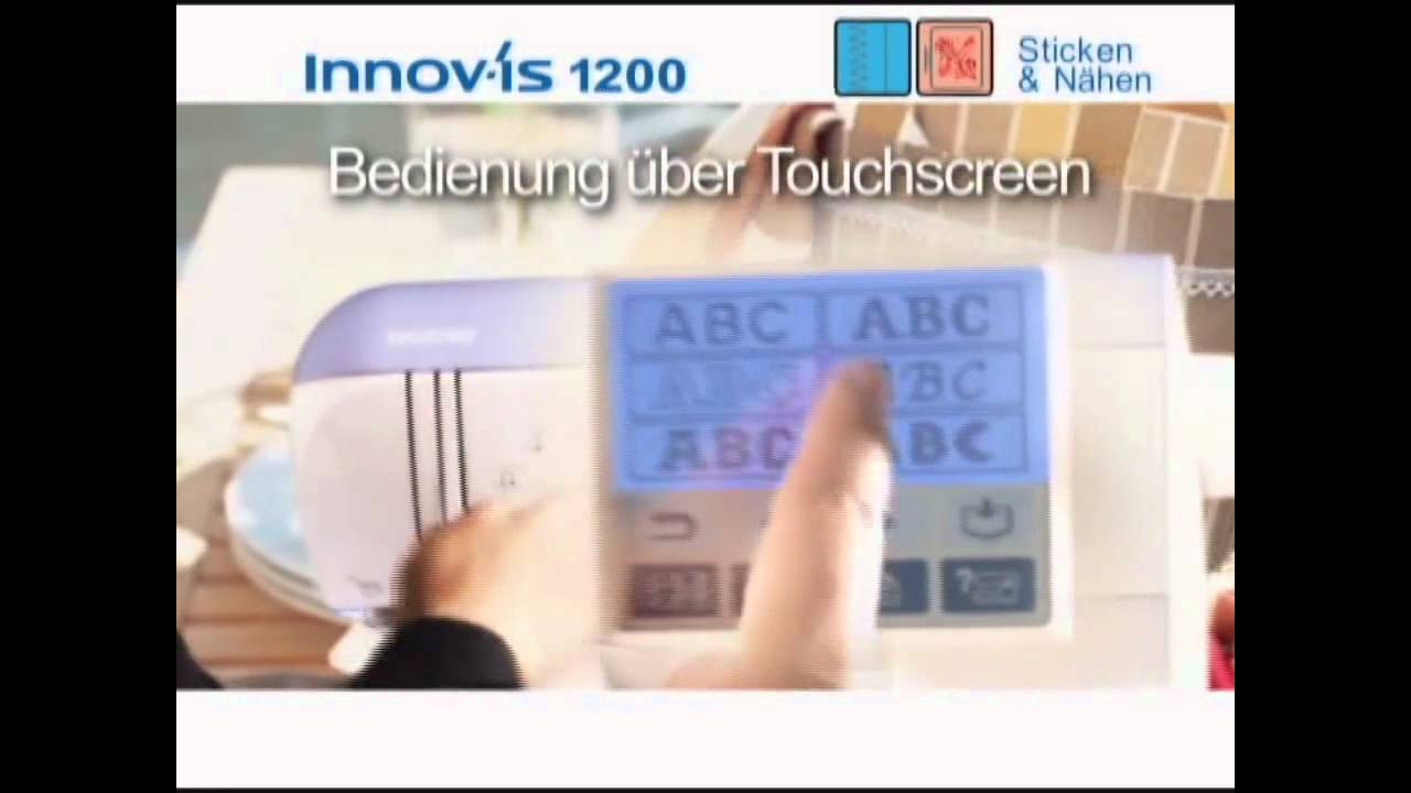 brother 1200 1250 n h und stickmaschine youtube. Black Bedroom Furniture Sets. Home Design Ideas