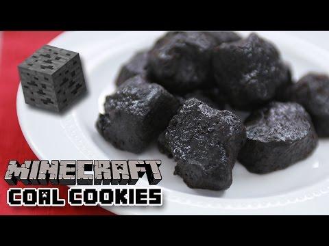 MINECRAFT COAL COOKIES - NERDY NUMMIES