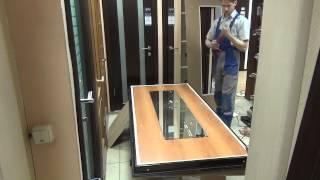 Приклеиваем накладку с зеркалом на дверь Torex Ultra M-5.(В бюджетной серии дверей Ультра М, завода Торэкс отсутствует вариант внутренней накладки с зеркалом. Клиен..., 2015-02-20T09:23:02.000Z)