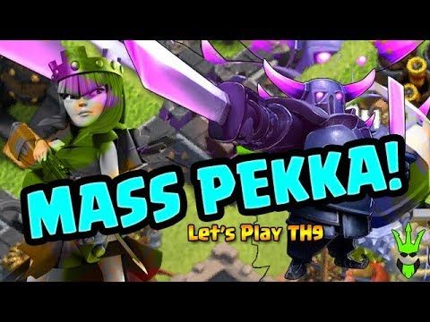 MASS PEKKAS FOR DARK ELIXIR! - TH9 DE Farming - Clash of Clans - Let's Play TH9 ep. 14