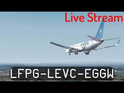 Prepar3d V4.2 - Air Europa 737-800 - Paris to Valencia and back to the UK