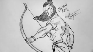 Very Easy !! How to Draw Lord Rama - Time Lapse Sketch