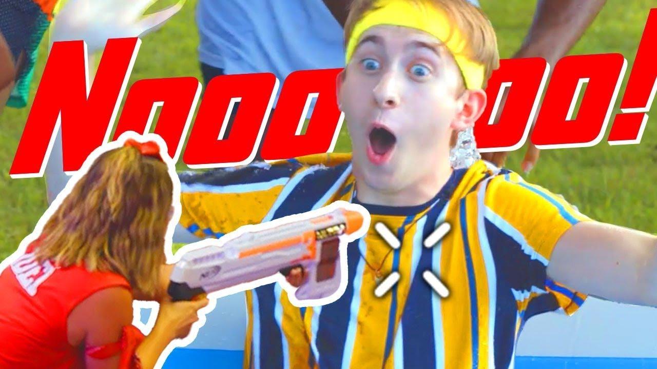 NERF Game | Best Nerf Trick Shots | Episode 4 | NERF House Showdown | NERF Battle Royale