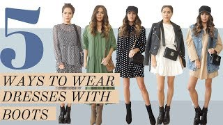 5 Awesome Ways To Wear Boots With Dresses & Skirts | Look book And Outfit Ideas