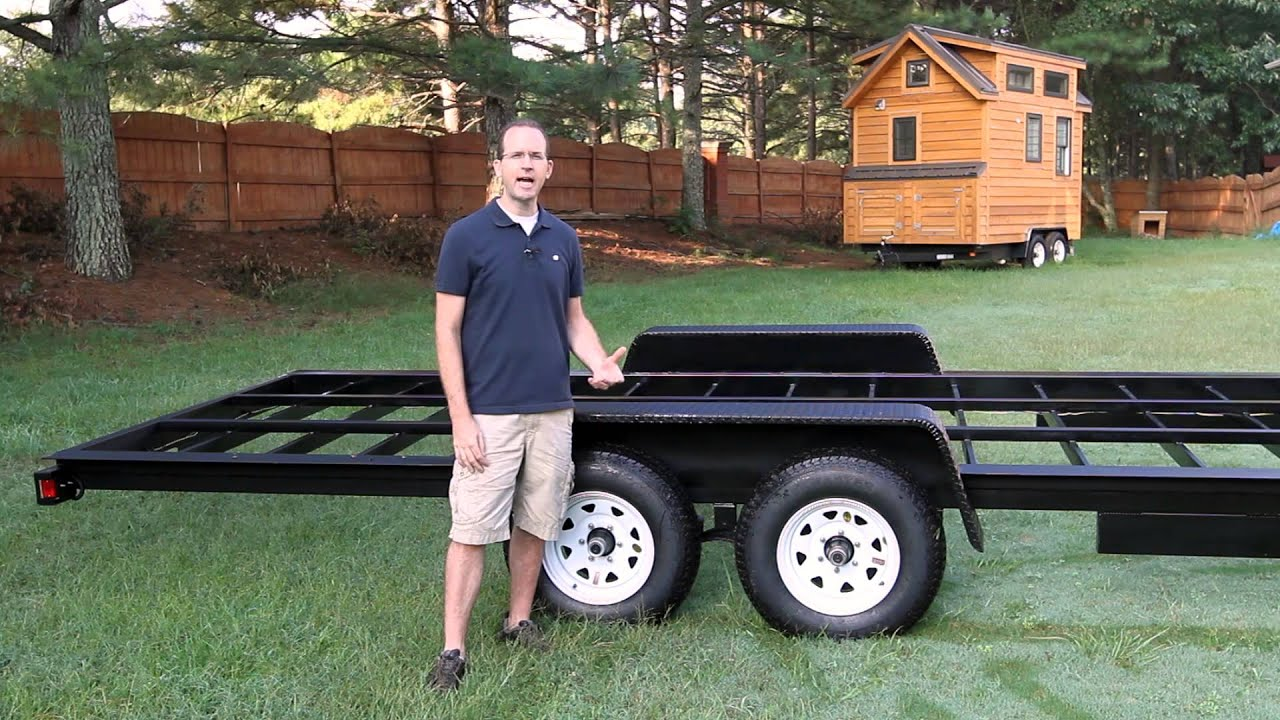 pretty tiny house trailers.  Tiny House Trailer YouTube