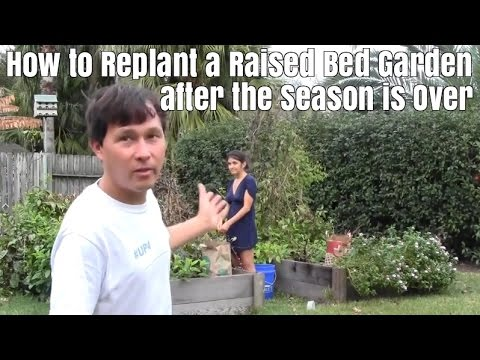How to Replant a Raised Bed Garden after the Season is Over