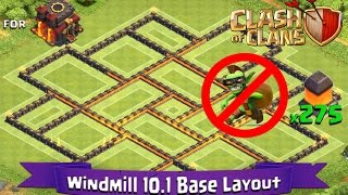 Clash Of Clans: TH10 | BEST Farming Base Layout (275 Walls) - Windmill 10.1